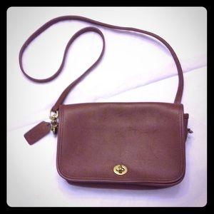 Coach brown crossbody handbag